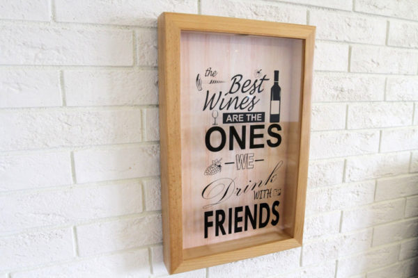 Копилка для винных пробок The Best Wines Are The Ones We Drink With Friends